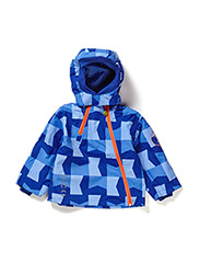 Nylon baby jacket, AOP - Electric blue