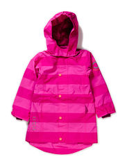 Nylon girls coat - AOP - Radiant orchid
