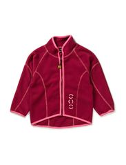 Double fleece jacket - Red plum