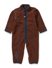 Double fleece suit with cuff - Chestnut