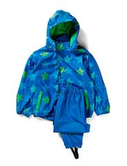 Rain suit, PU - all over print - Blue