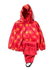 Rain suit, PU - all over print - Pink