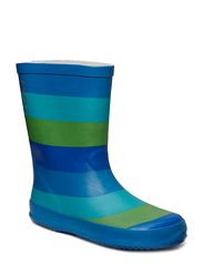 Wellies - Striped - Blue