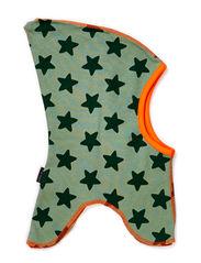 Full face w. tassel and stars - Leave green