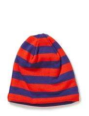 Hat striped wool w cotton - Purple
