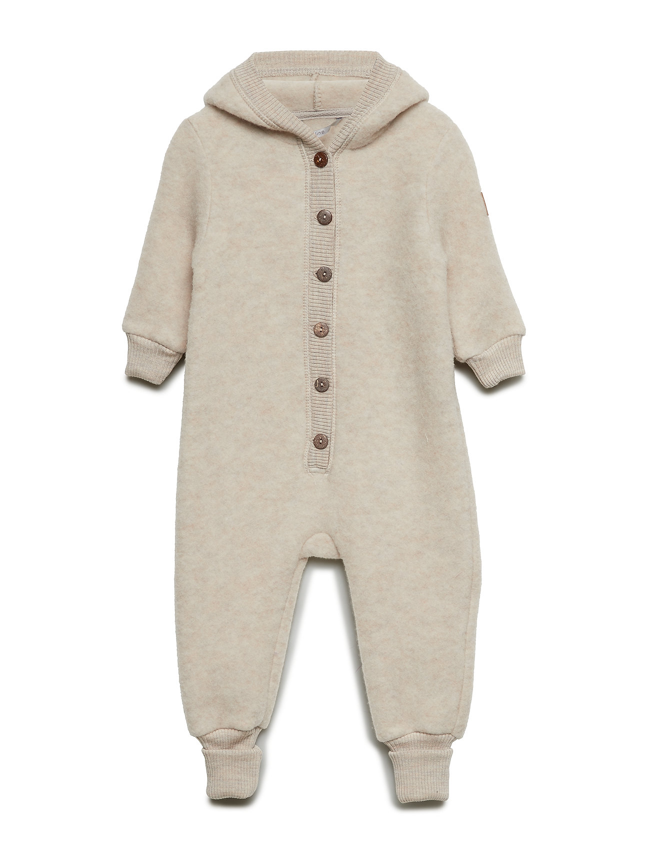 Wool Baby Suit W/Hat Mikk-Line Fleece til Børn i