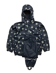 AOP PU rainwear set - 284/DEEP NIGHT (287)