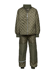 THERMO set - no fleece - 364/DUSTYOLIVE