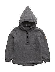 WOOL jacket w/hat - 916/MELANGEGREY