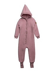 WOOL Baby suit w/hat - 509/WILDROSE