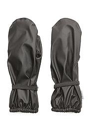 PU RAIN mittens with fleece - 190 BLACK
