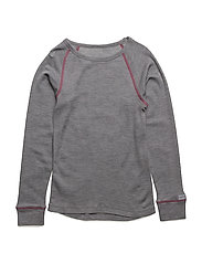 WOOL LS top - 548/RASPBERRYWINE