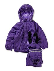 PE Rainwear with fleece lining - 742/RED VIOLET