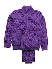 Termo set w. fleece in jacket - 741/DARK VIOLET (REDDISH)