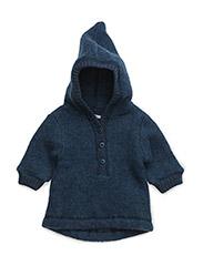 Baby Wool Jacket with hat - MELANGE TAHITI
