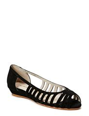 Ballerina open toe - black