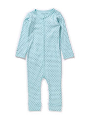 Mattie Romper LS - Light Blue