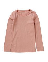 Eli T-Shirt LS - Ash Rose