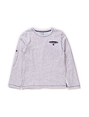 Benja T-Shirt LS - Light Grey Melange