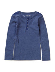 Niclas T-Shirt LS - Bijou Blue