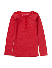 Niclas T-Shirt LS - Lipstick Red