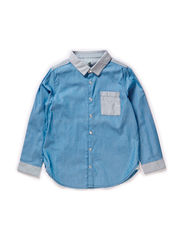 Levon Shirt LS - Placid Blue