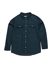 Levon, K Shirt LS - SKY CAPTAIN BLUE