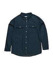 Levon, K Shirt LS - SKY CAPTAIN BLUE