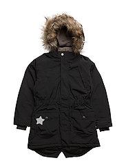 Vibse Faux Fur, K Jacket - BLACK