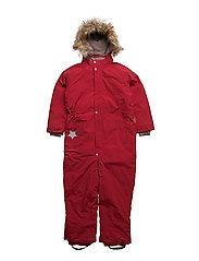Wanni Faux Fur, K Snowsuit - SCOOTER RED