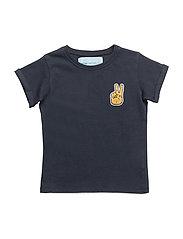 Peace T-shirt, K - TRUE NAVY