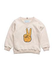 Peace Sweatshirt, K - LIGHT BROWN MELANGE