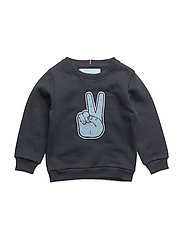 Peace Sweatshirt, K - TRUE NAVY