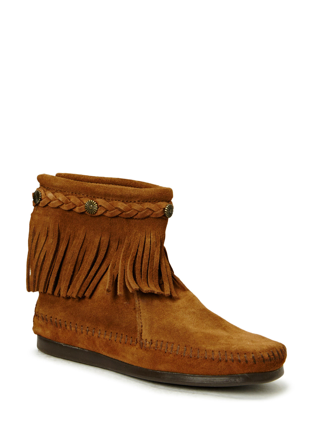 Hi Top Back Zip Boot Minnetonka Støvler til Damer i Dusty Brown