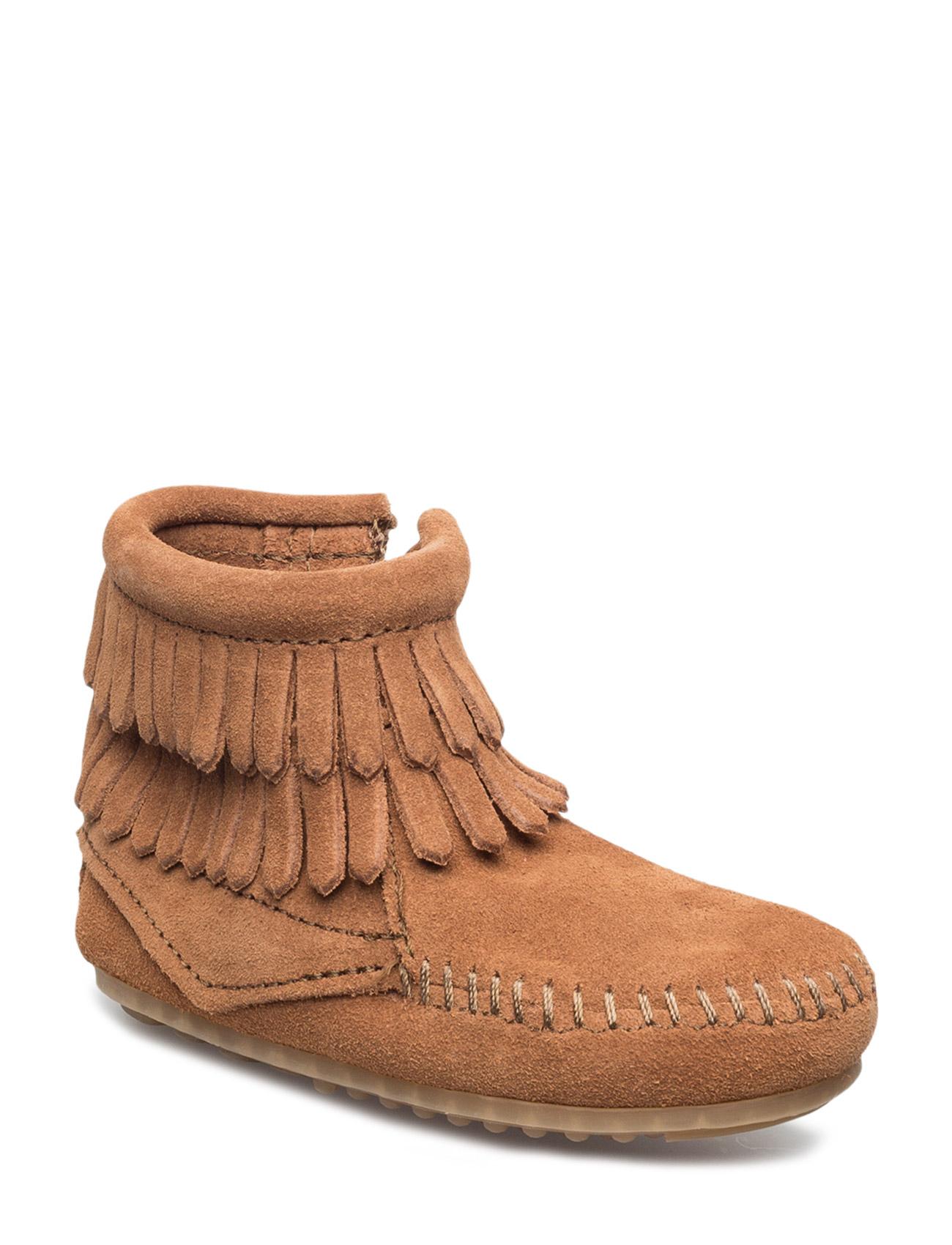 D Fringe Side Zip B Minnetonka Støvler til Børn i Brun