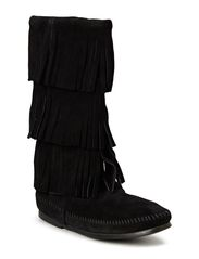 3-Layer Fringe Boot - Black
