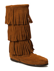 3-Layer Fringe Boot - BROWN