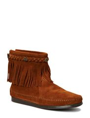 Minnetonka Hi Top Back Zip Boot