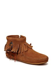 Concho Side Zip Boot - TAUPE