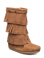3-Layer Fringe Boot K - BROWN
