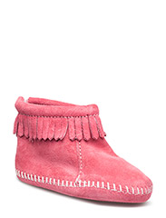 Back Flap Bootie B - HOT PINK