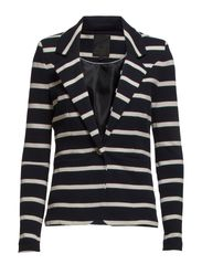 Carmen Stripe Jacket - Black iris