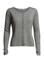 Laura knit cardigan - 112 light grey melange