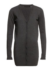 Laura long cardigan - Dark grey melange