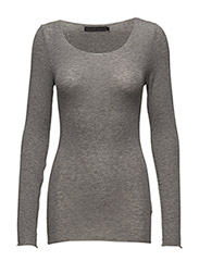 Claudia top - LIGHT GREY MELANGE