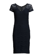 Gabriella lace dress - BLACK IRIS