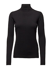 Lana roll neck knit - BLACK