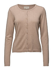 New Laura cardigan - NUDE SMOKE MELANGE
