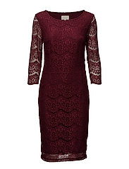 Anastacia dress - BORDEAUX
