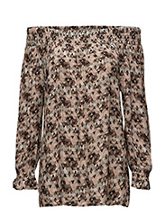 Nisa blouse - GRAPHIC BLUR PRINT